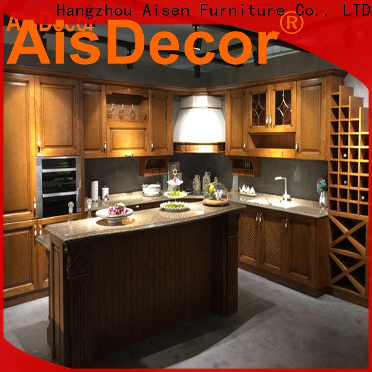 AisDecor dark wood kitchen cabinets overseas trader