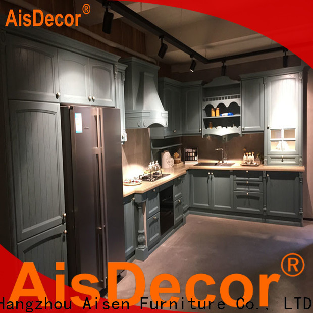 AisDecor custom white wood kitchen cabinets wholesale