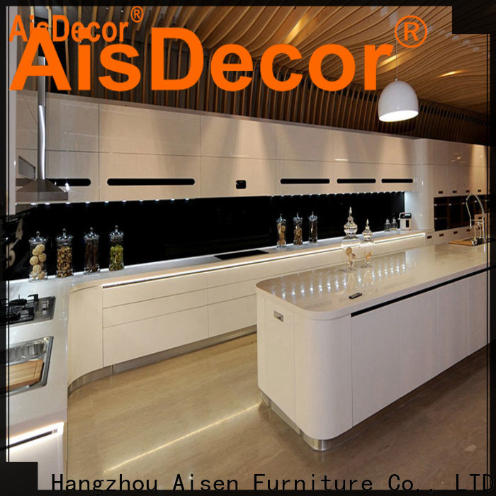 AisDecor custom gray cabinets kitchen overseas trader