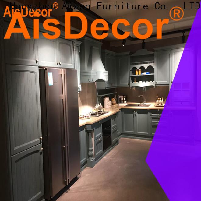 AisDecor cherry wood kitchen cabinets wholesale