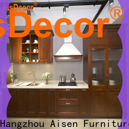 AisDecor custom cherry wood kitchen cabinets supplier