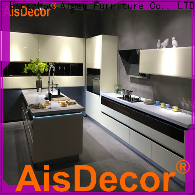 AisDecor reliable gray cabinets kitchen one-stop services