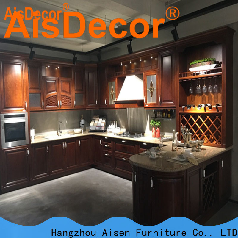 AisDecor cherry wood cabinets wholesale