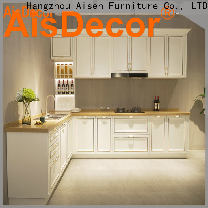 AisDecor cherry kitchen cabinets one-stop services