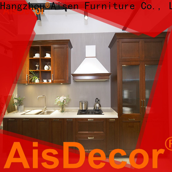 solid wood kitchen cabinet from China