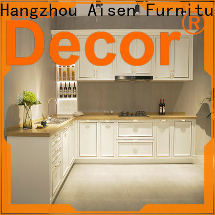 AisDecor cherry wood kitchen cabinets supplier