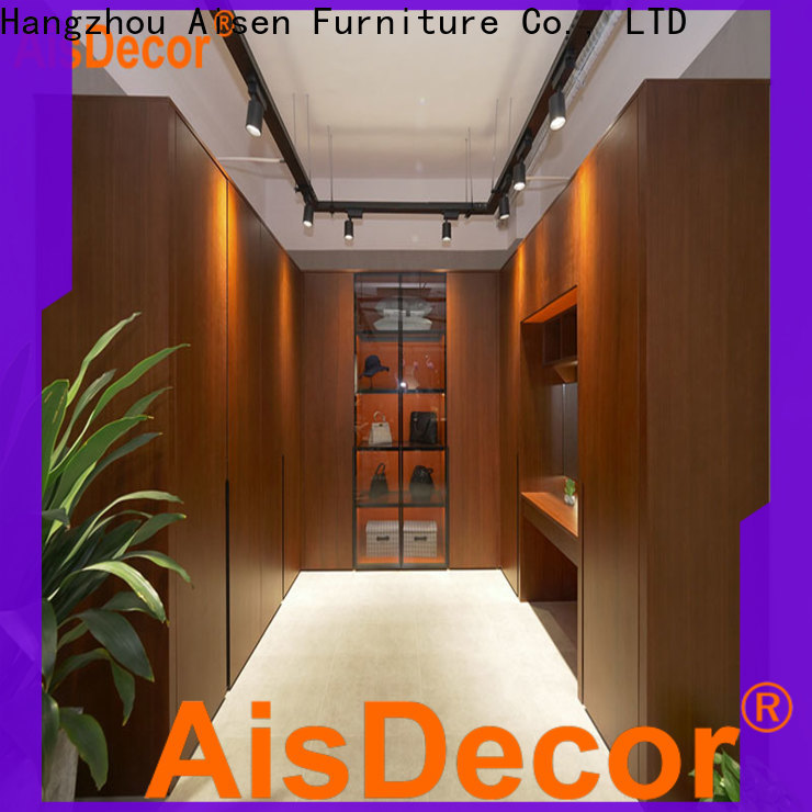 AisDecor professional small walk in wardrobe wholesale