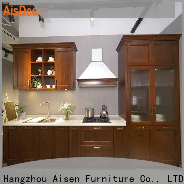 custom solid wood kitchen cabinet supplier