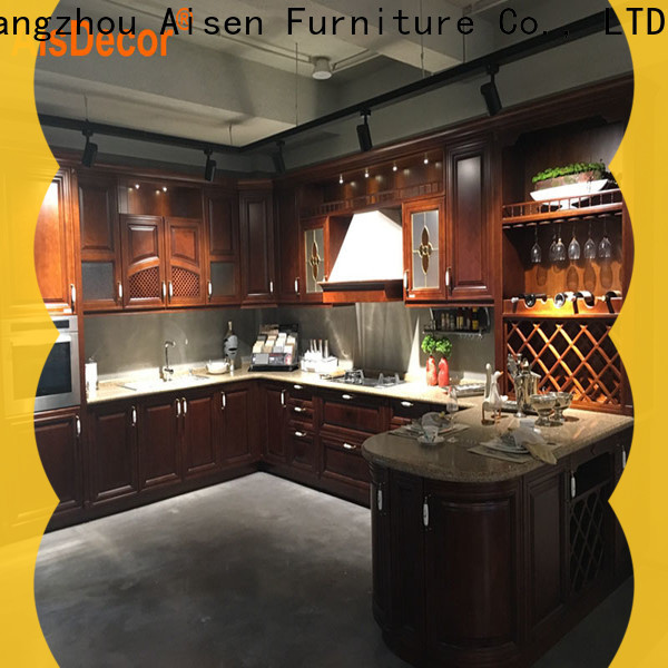 AisDecor top-selling dark wood kitchen cabinets from China