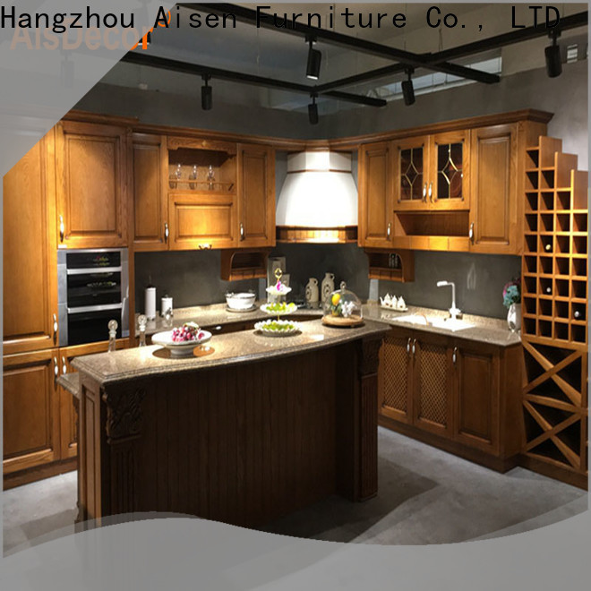 new solid wood kitchen cabinet exporter
