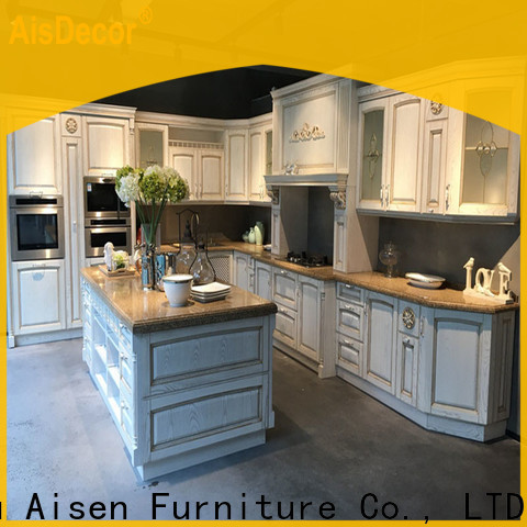 AisDecor new solid wood kitchen cabinet wholesale