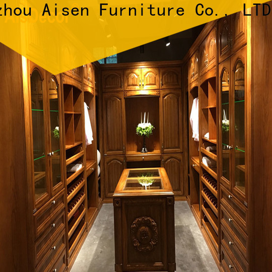 AisDecor corner walk in wardrobe manufacturer