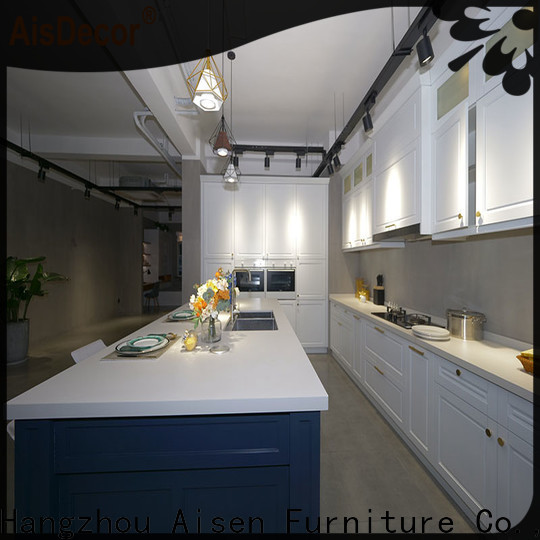 AisDecor white wood kitchen cabinets factory