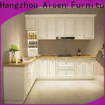 AisDecor reliable cherry wood kitchen cabinets one-stop services