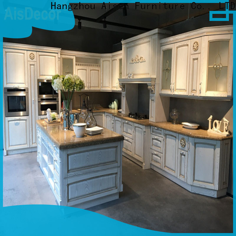 AisDecor professional solid wood kitchen cabinet from China