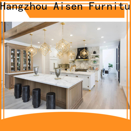 AisDecor wood and white kitchen cabinets overseas trader