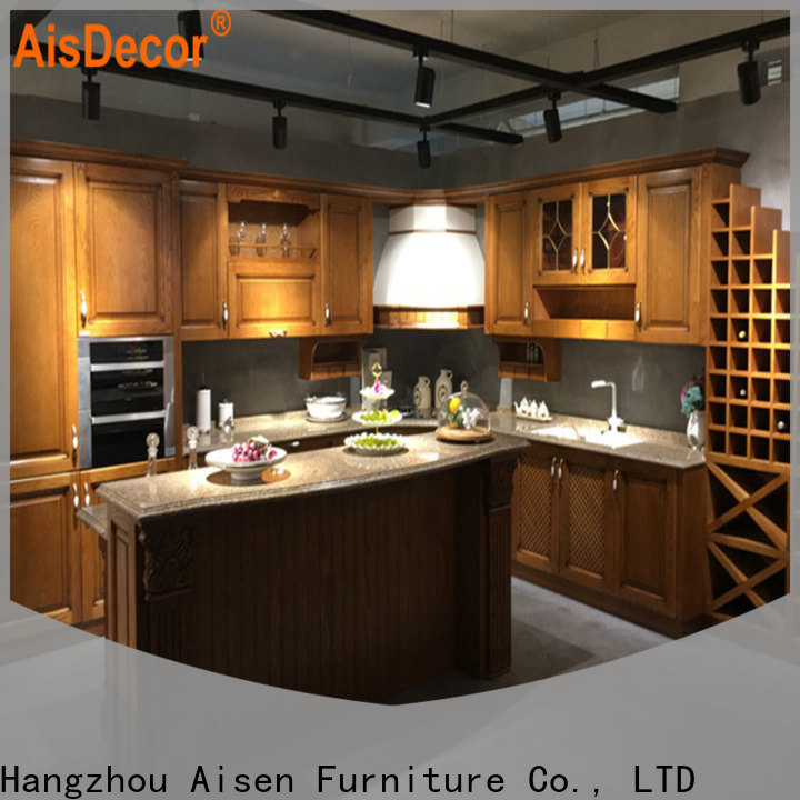 AisDecor new cherry wood cabinets wholesale