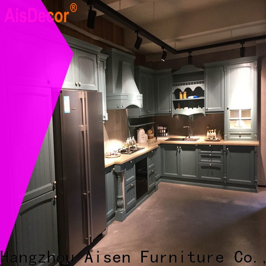 custom solid wood kitchen cabinet from China