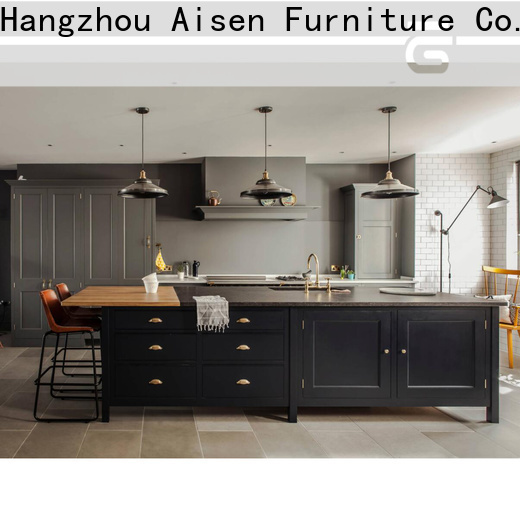 AisDecor cheap white wood kitchen cabinets exporter