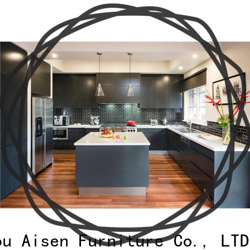 AisDecor painting laminate kitchen cabinets manufacturer
