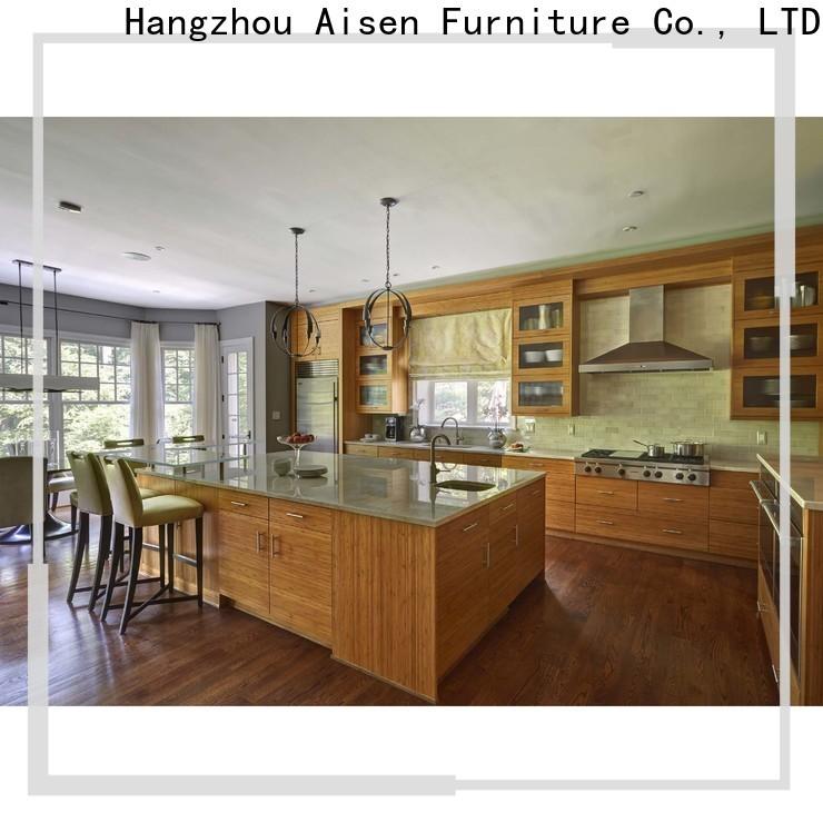 AisDecor cheap laminate kitchen cabinet overseas trader