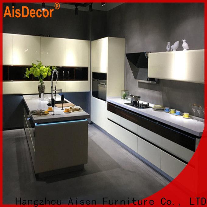 AisDecor gray cabinets kitchen factory