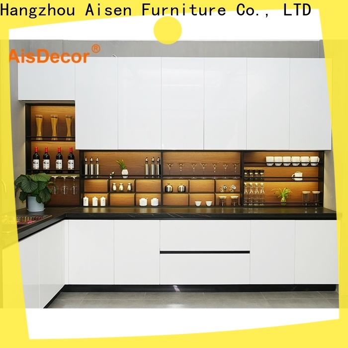 AisDecor white lacquer cabinets from China