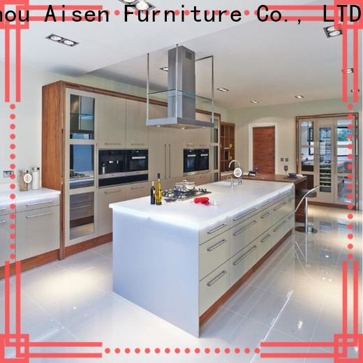 AisDecor gray cabinets kitchen one-stop services