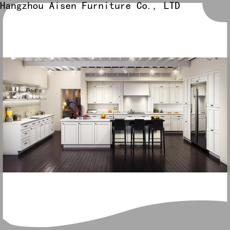 professional white shaker kitchen cabinets supplier