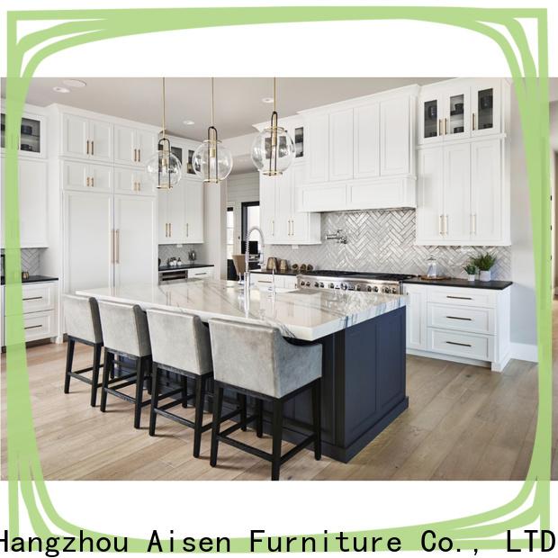 AisDecor cheap white wood kitchen cabinets exporter