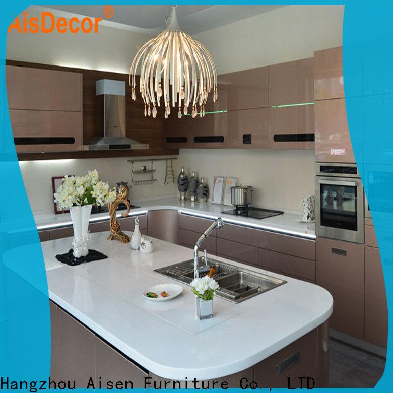 AisDecor gray cabinets kitchen international trader