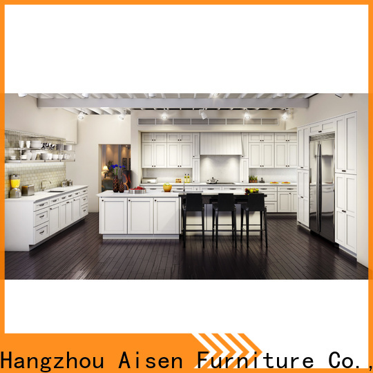AisDecor white shaker style cabinets overseas trader