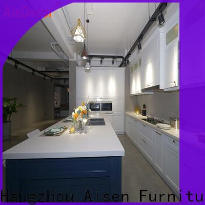 AisDecor white wood kitchen cabinets exporter