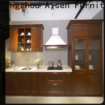 custom cherry wood kitchen cabinets factory