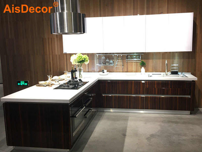 Wooden Glossy Zebra-stripe Kitchen