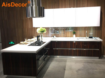 Wooden Glossy Zebra-stripe Kitchen