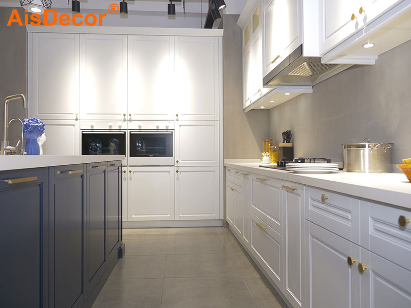 AisDecor white wood kitchen cabinets factory-1