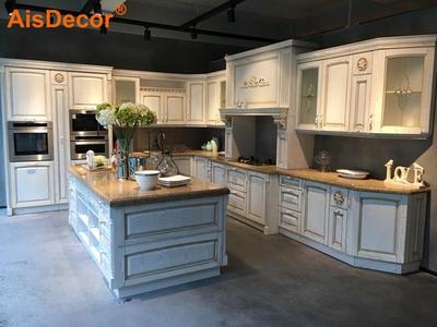 White Oak Golden Line Glass Door Luxury Solid Timber Kitchen