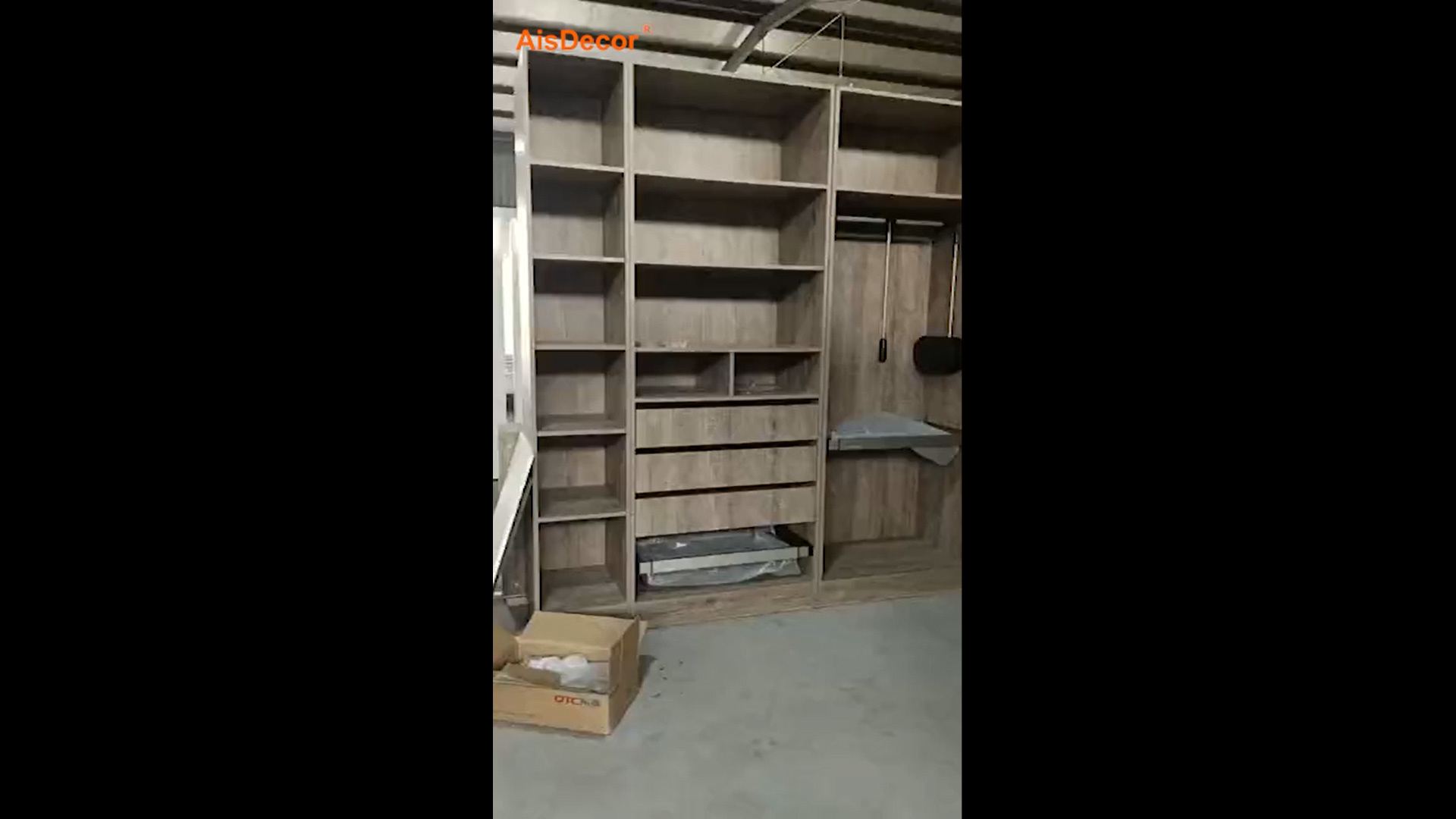 Walk-in Closet In Workshop