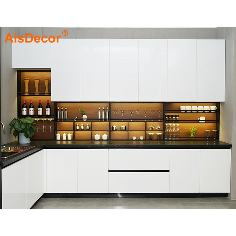 Best Modern White Lacquer Kitchen Cabinet With Good Price