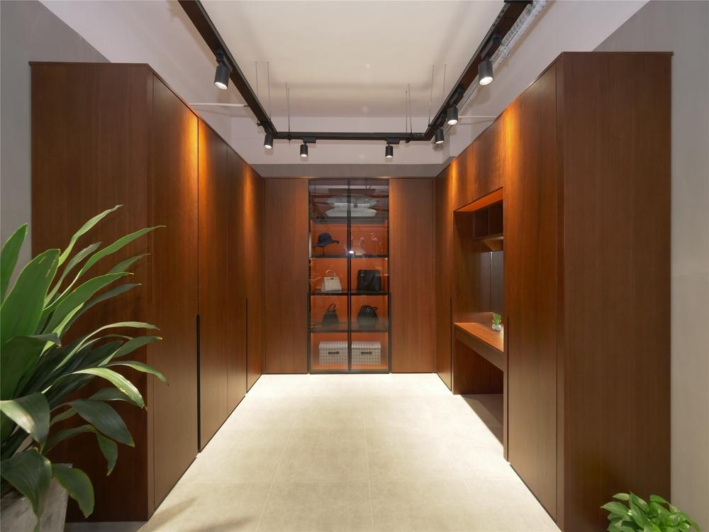 Modern Design Bedroom Melamine Wood Veneer Doors Wall Wardrobe