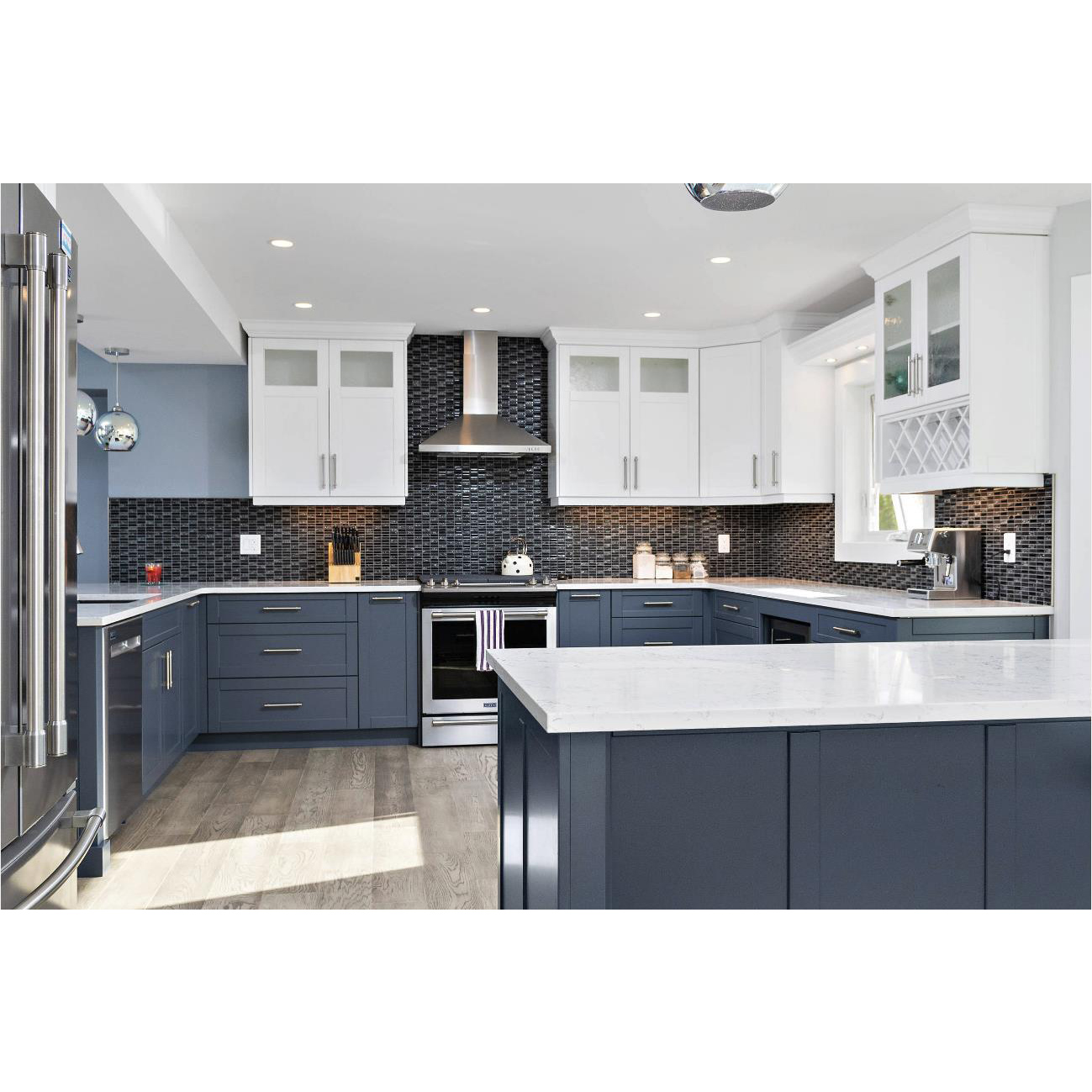AisDecor new gray cabinets kitchen one-stop services-1
