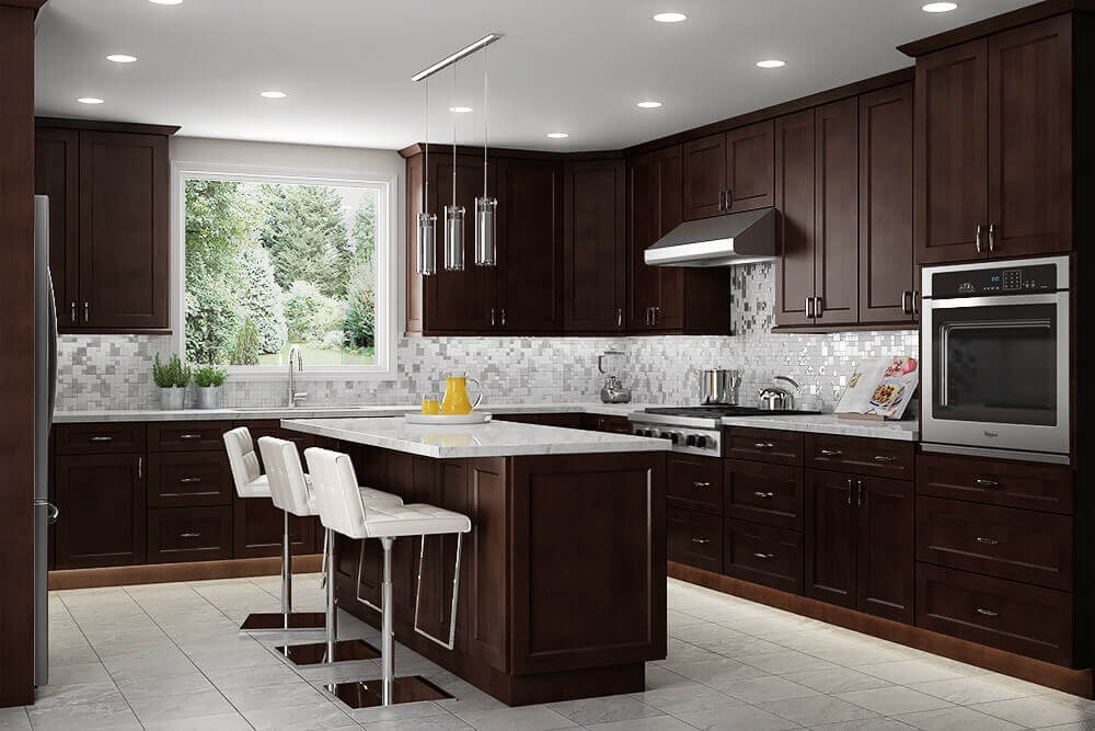 Modern Design Customized Color Solid Wood Shaker Style Kitchen Cabinet