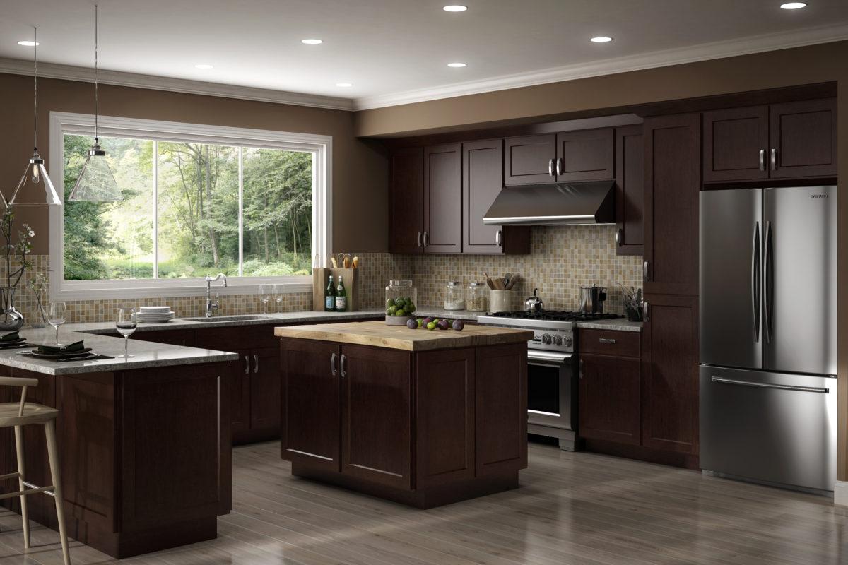 AisDecor cheap white shaker kitchen cabinets wholesale-2