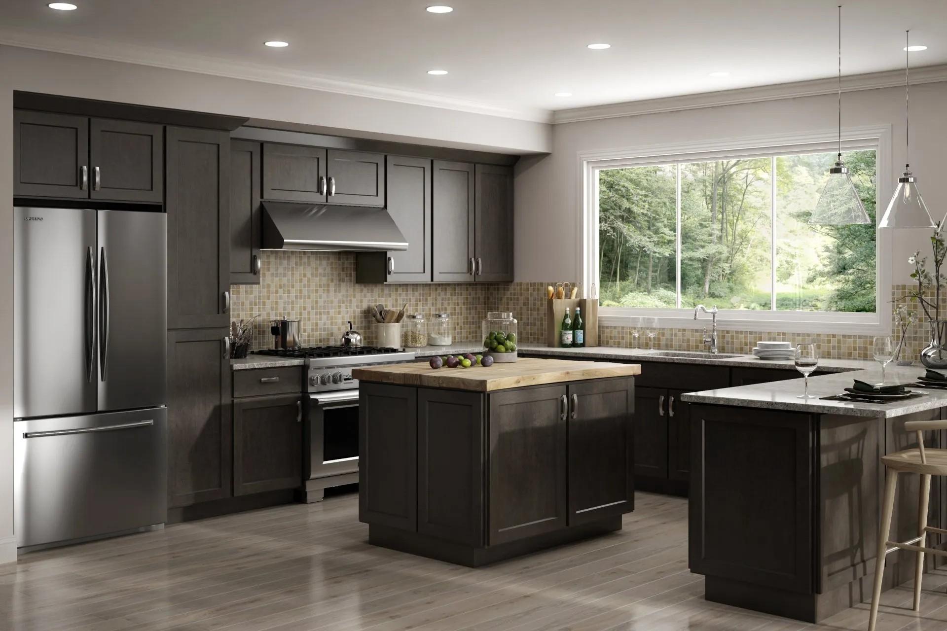 AisDecor cheap white shaker kitchen cabinets wholesale-1