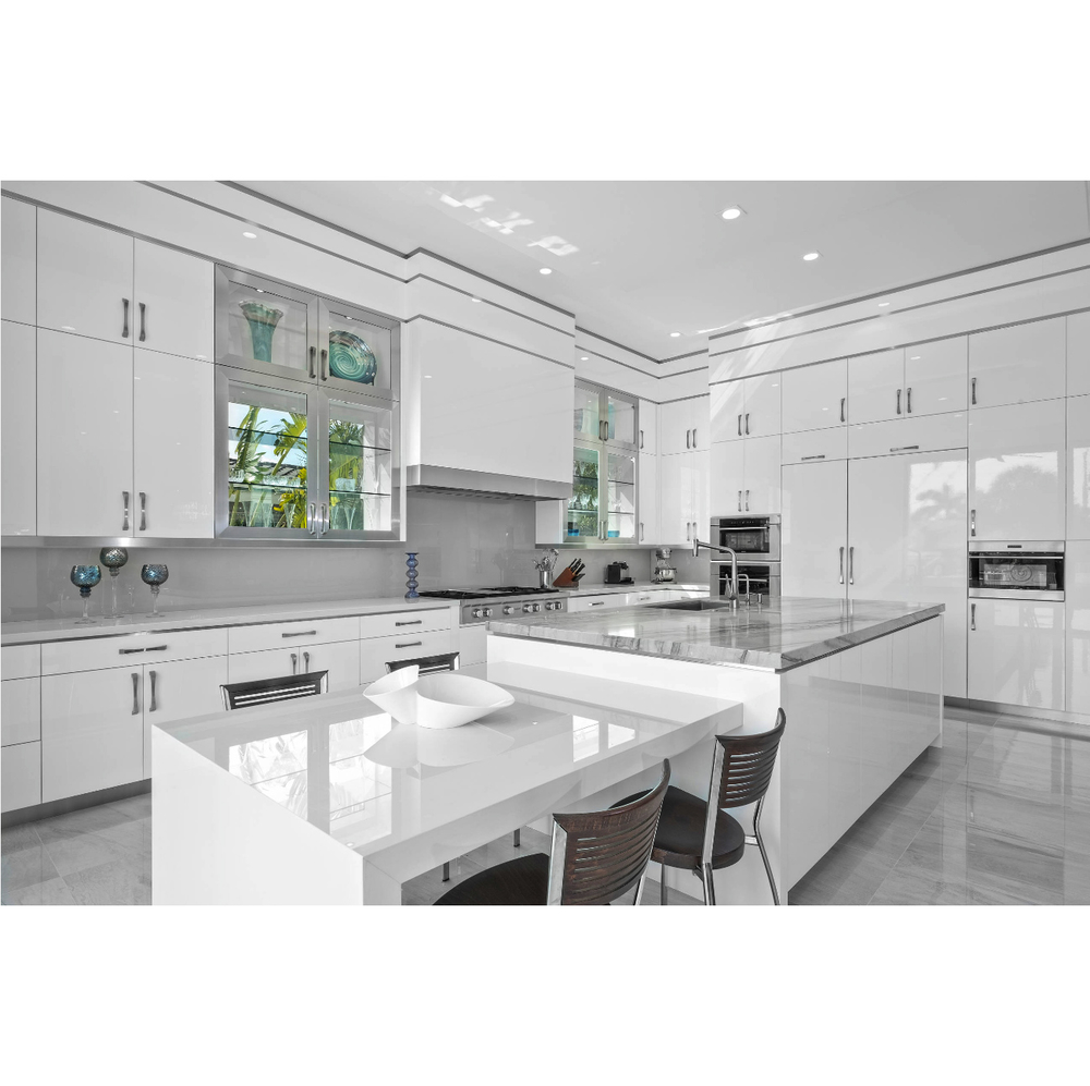 Factory Price Good Quality White Color Lacquer Kitchen Cabinet