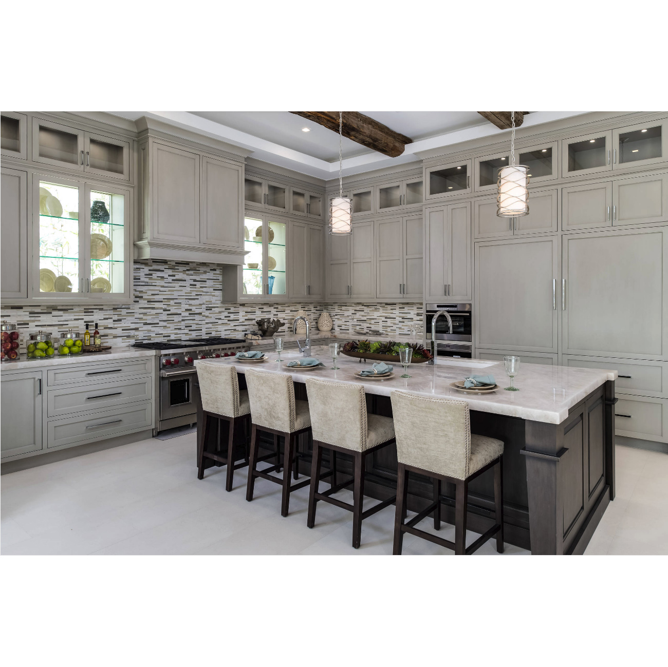 cheap gray shaker cabinets supplier-2