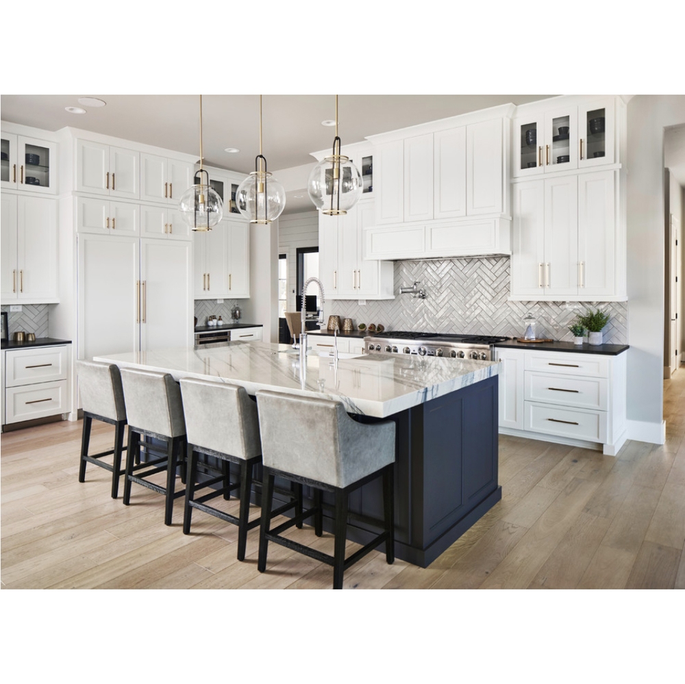 Good Price Custom Solid Wood White Shaker Kitchen Cabinet