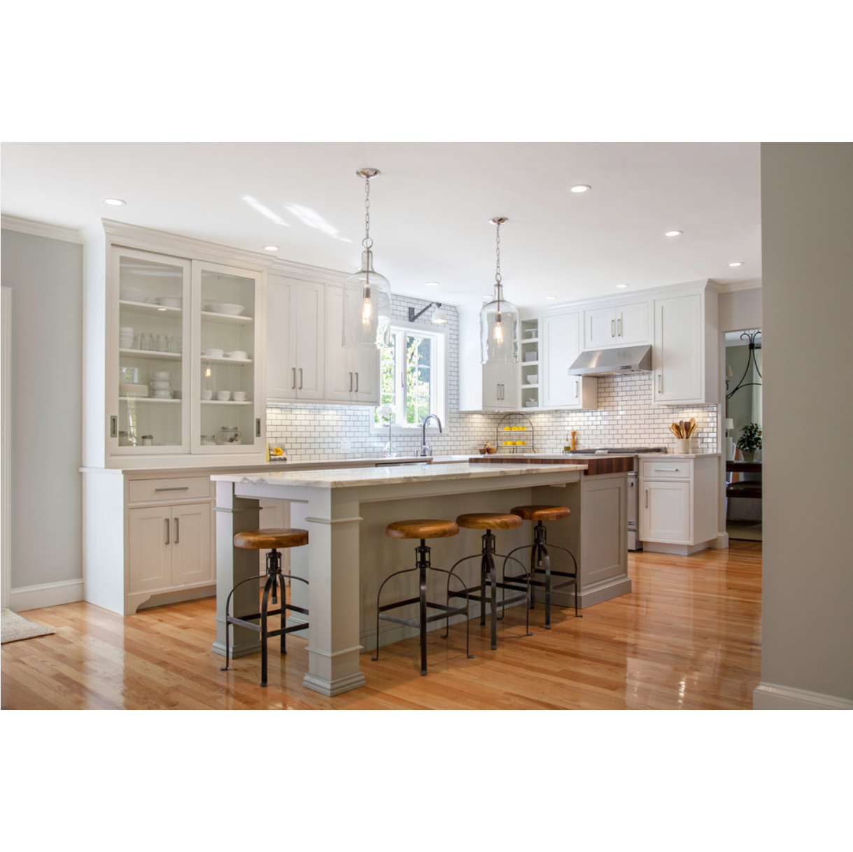 AisDecor cheap white shaker kitchen cabinets one-stop services-2